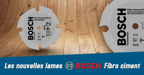 Bosch lame fibro ciment