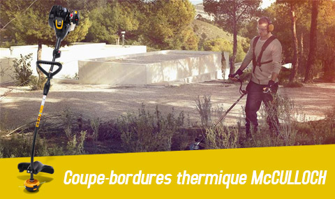 coupe bordures thermique mcculloch Trimmac