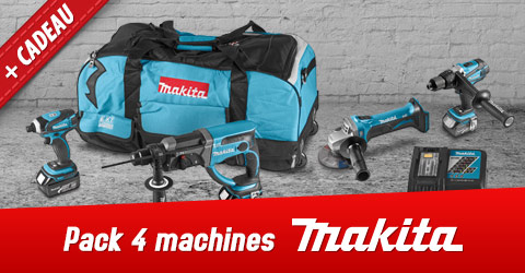 Pack 4 machines Makita